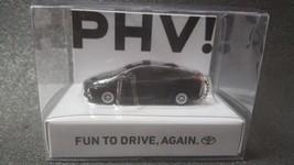 Toyota Phv Led Light Keychain Black Pull Back Mini Car Japan Not Sold In Stores - $22.15