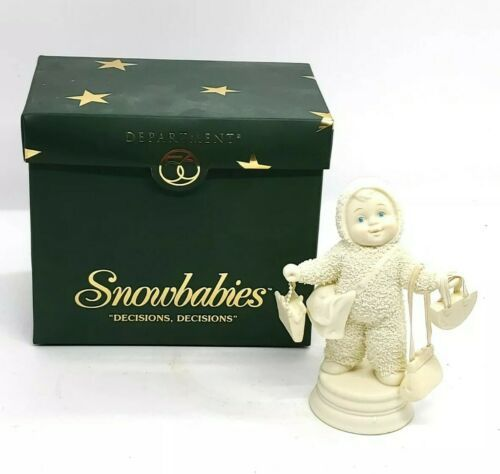 "Primary image for Department 56 Snowbabies ""Decisions  Decisions"" 2004 W/Box FREE SHIPPING"