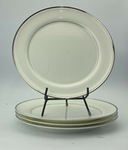 mikasa sillver halo A4105 10 1/2 inch dinner plates lot of 4  - $19.79