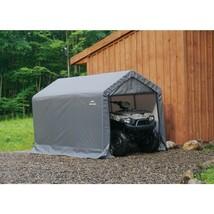 Storage Shed Peak Style 6 x 10 x 6 Plastic Heavy Duty Steel Frame Outdoo... - $225.40