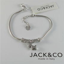 Silver 925 Bracelet Jack&co with Star Dog Butterfly Clover or Cat image 5