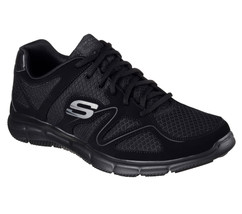 Foam Comfort shoes W Mesh 58350 Fit Train Wide Black Memory Sport Men's Skechers XZ0wqx