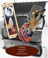 Coyote Theme Digital File for Do-It-Yourself Printable Bookmarks - $1.99