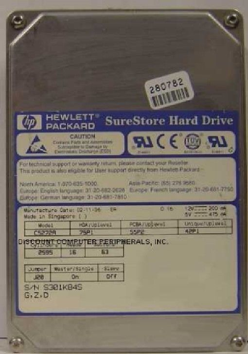 1.3GB 3.5in IDE Drive Very Rare HP C5272A Tested Free USA Ship Our Drives Work