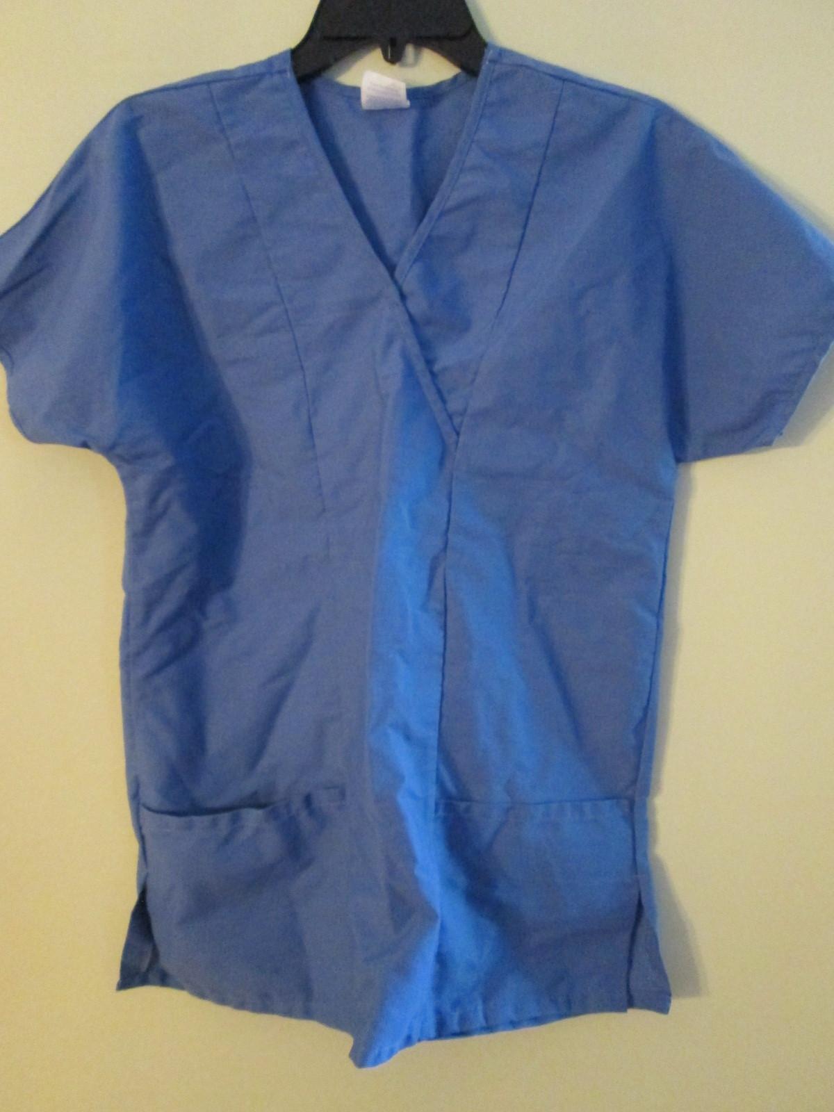 Blue scrubs top size XS by Medline jch090