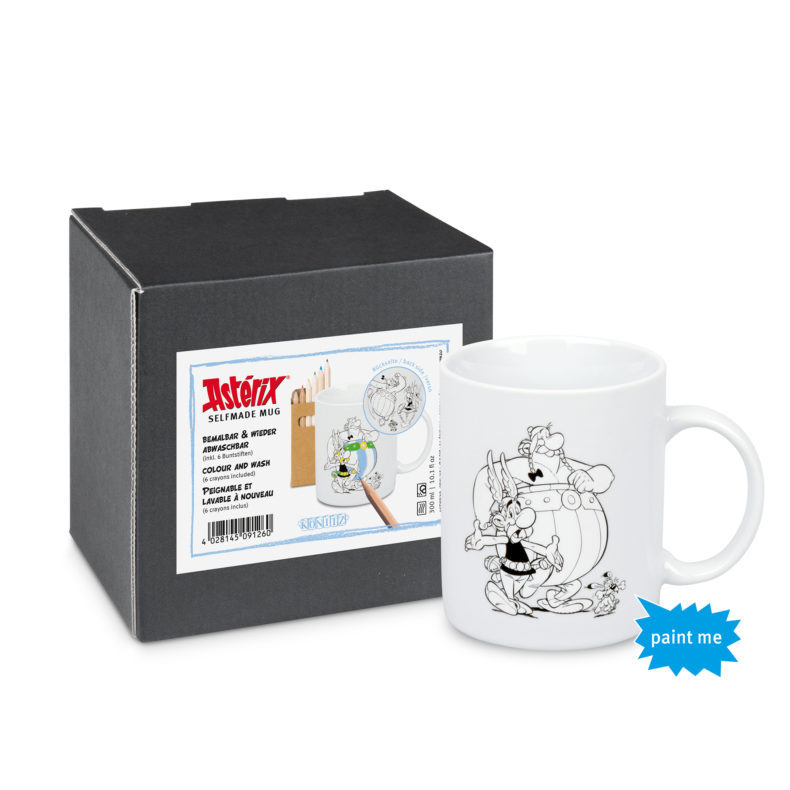 Asterix and Obelix porcelain colour and wash mug