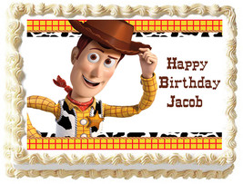 WOODY TOY STORY  Edible cake topper Image party decoration - $6.50+