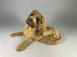 Vintage Realistic Sharpei Shar Pei Dog Puppy Figurine Sculpture - $23.38