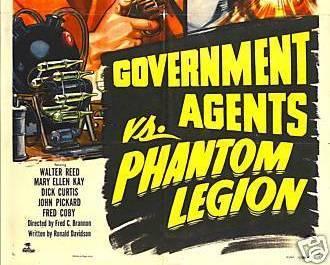GOVERNMENT AGENTS Vs PHANTOM LEGION, 12 Chapter Serial