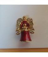 Monet Red Enamel & Rhinestone Angel Keepsake Trinket Box 2003 - $34.65
