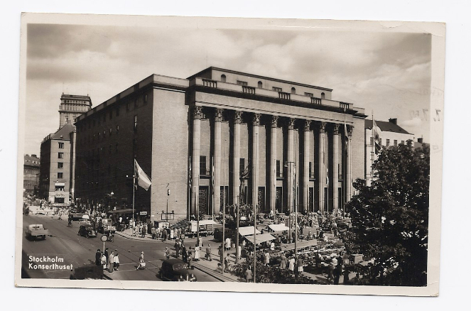 1952 - The Concert Hall, Stockholm, Sweeden - Real Photo - Used