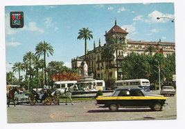 1968 - Seville, Spain - Calvo Sotelo Square & Alfonso XIII Hotel - Used - $4.99