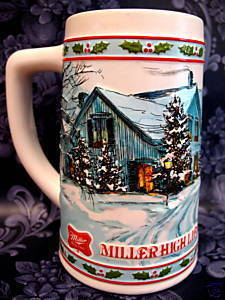 Vintage MILLER HIGH LIFE BEER Mug STEIN Limited Edition Souvenir Collector