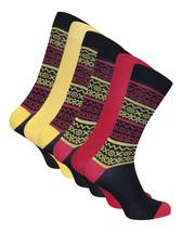 6 Paia calzini bambu uomo divertenti colorati disegni 40-45 eur - $13.58
