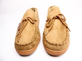 Boston Traveler  Moccasin Slippers 212M Hickory Size 12 - $38.15 CAD