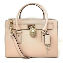 Michael Kors Hamilton Pink Blossom Saffiano Leather Satchel Shoulder Bag... - $222.75