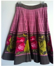 ANTHROPOLOGIE Odile summer SKIRT pink floral print size 2 NEW RARE! - $69.99