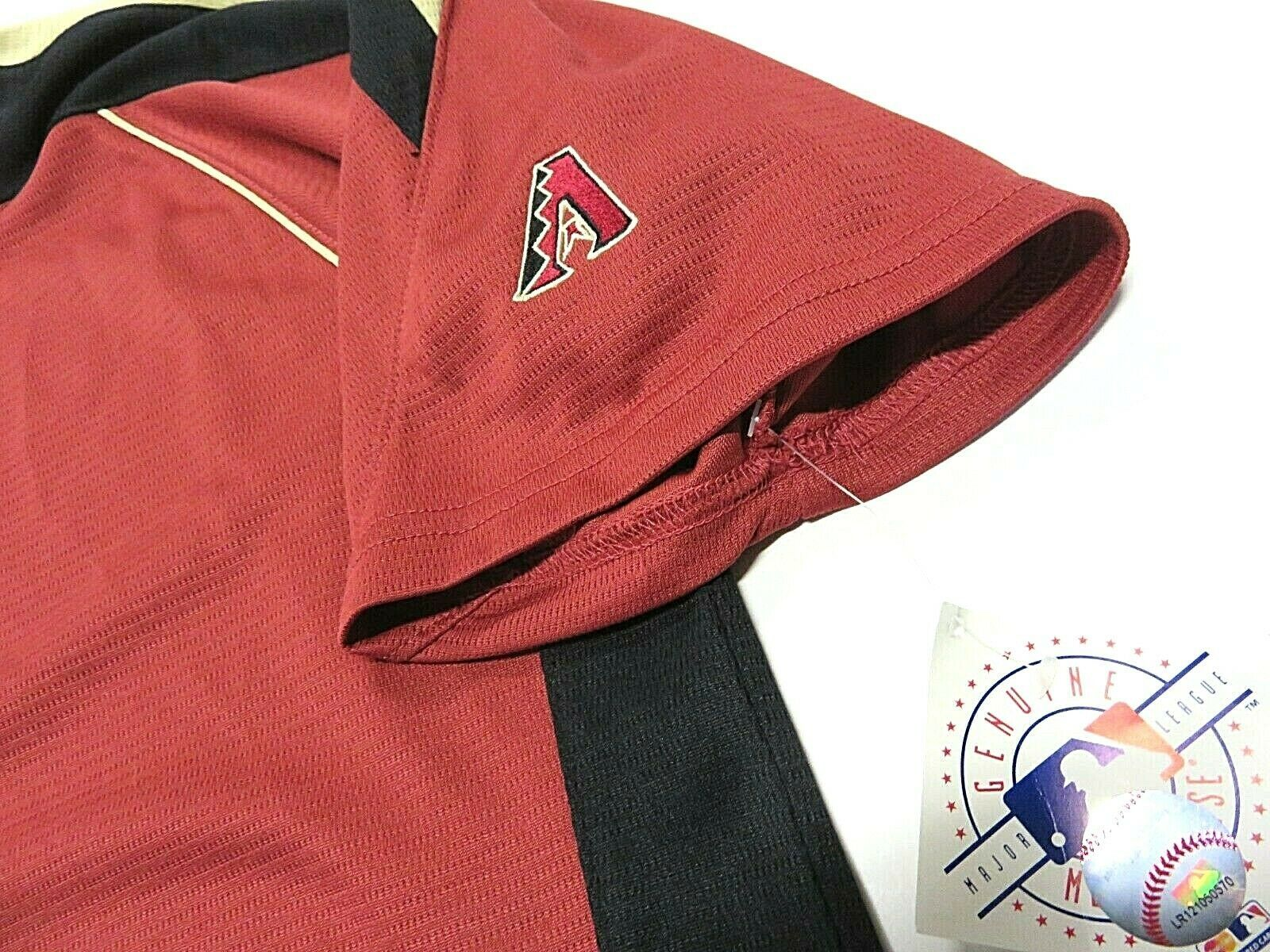 NWT MLB Arizona Diamondbacks Short Sleeve Baseball Jersey Style Shirt Men's Sz M image 2