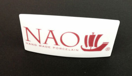 Nao Lladro Dealer White Porcelain Display Sign Boat Logo Spain 4 Inch wi... - $49.99