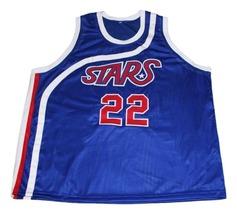 Moses Malone #22 Utah Stars New Men Basketball Jersey Blue Any Size image 3