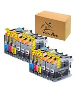 12Pack LC203XL LC201 Ink Cartridge Replacement for Brother LC203 LC201XL... - $25.98