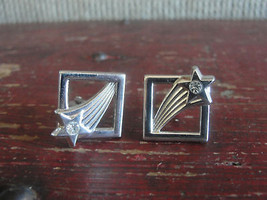SWANK silver tone cuff links, shooting star - $19.48