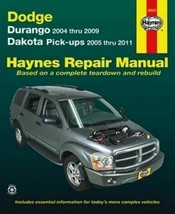 2005-2011 Dodge Dakota, 04-09 Durango Repair Service Workshop Manual Boo... - $18.70