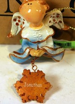 "Christmas Ornaments - WHOLESALE- Russ BERRIE-#8671 - 3 ANGELS- ""JONATHAN""- New - $5.83"