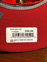 New Era 59Fifty Hat Kansas City Chiefs NFL 2017 On Field Sideline Fitted Hat!! image 5