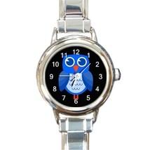 Ladies Round Italian Charm Bracelet Watch Cute Owl At Night Gift model 3... - $11.99