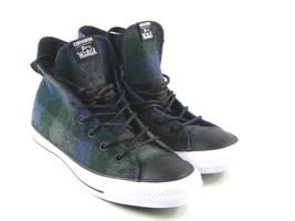 Converse x Woolrich Chuck Taylor All Star Women's Blue,Green, Plaid Wool... - $76.71