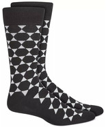 Mens Dress Socks Geometric Star Black Alfani Alfatech 1 Pair $10 - NWT - $3.95
