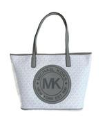 Michael Kors Medium Top Zip Tote ~ Bright White/Gray NWT Fulton Sport Ba... - $189.95