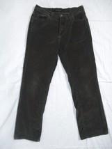 Calvin Klein Jeans Corduroy Dark Espresso Brown Pants  32 x 28 Size 8 Stretch - $15.45