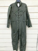 US AIR FORCE USAF NOMEX FIRE RESISTANT FLIGHT SUIT GREEN CWU-27/P - 42R - $54.45