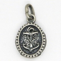 SILVER 925 PENDANT, BURNISHED AND SATIN, MEDAL WITH AGAIN AND FRAME image 2
