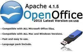 Apache Open Office 2018 Full Latest Version for Microsoft Windows & Mac ... - $10.74