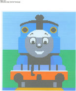 Thomas Train Color Graph Afghan Pattern - $5.00