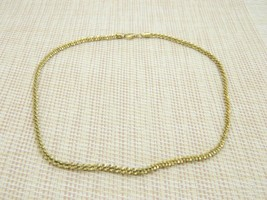 VERONESE Gold Vermeil Over .925 Sterling Choker Necklace Vintage - $59.39