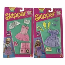 Mattel 1992 Skipper Easy To Dress Outfits Accessories Lot Of 2 Clothing ... - $65.30