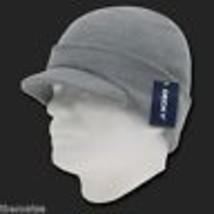 Heather Gray Knit Acrylic Jeep Skull B EAN Ie Winter Ski Visor B EAN Ie Hat Cap - $27.07