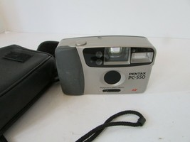 PENTZ PC-550 35 MM FILM CAMERA  AF PENTAX LENS 28MM W/CASE AND STRAP  G3 - $24.45