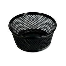 """Universal Jumbo Mesh Clip Dish, Black, Mesh Design, 2H x 4 3/8 Diameter"" - $1.58"