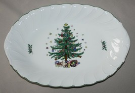 "Nikko Happy Holidays 14"" Oval Serving Platter Japan - $19.55"