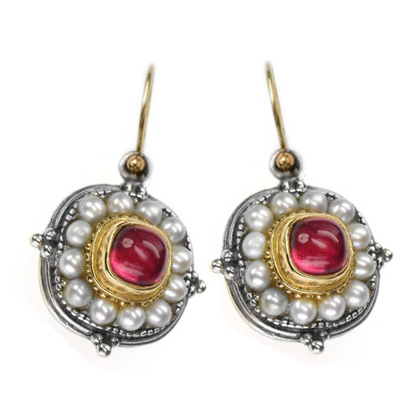 02001194e gerochristo 1194 byzantine medieval ornate earrings 5