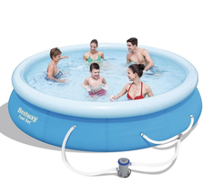 "Bestway Fast Set 12' x 30"" Swimming Pool Set with Filter Pump image 5"