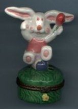 HAPPY BUNNY RABBIT HINGED BOX - £8.48 GBP