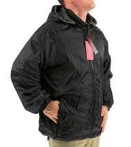 Lax Men's Water Resistant Removable Hood Security Reversible Jacket Black image 3