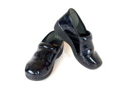 Dansko XP 2.0 Clogs Blue Floral Patent Leather Professional Nursing Clog... - $64.17