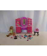 Barbie Doll Glam Hair Salon Vanity Furniture Lights up and Makes Sounds ... - $42.59